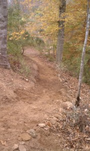 Foothill Crossing Trail..it's wider now.