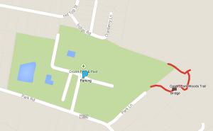 Google Map - Crozet Park Woods Trail